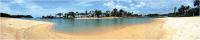 Скиналь Оптион Морской берег. Тропический пляж 2 (МДФ, 2800x600x6) -