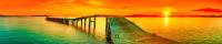 Скиналь Оптион Морской берег. Янтарный закат 16 (МДФ, 2000x600x6) -