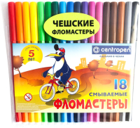 Фломастеры Centropen Пингвины / 7790 1886 (18шт) -