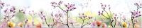 Скиналь Оптион Цветы. Сакура 4 (стекло, 2800x600x3) -