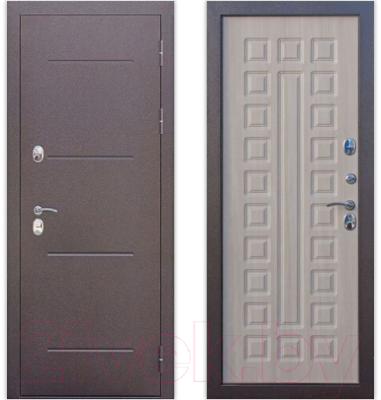 Входная дверь Гарда Isoterma Лиственница мокко