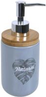 Дозатор жидкого мыла Bisk Folio 05594 (серый) -