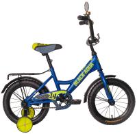 Детский велосипед Black Aqua Fishka 18 KG1827 со светящимися колесами (синий) -