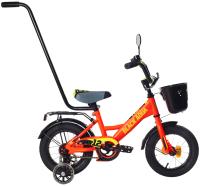Детский велосипед Black Aqua Fishka 12 KG1227 со светящимися колесами (оранжевый неон) -