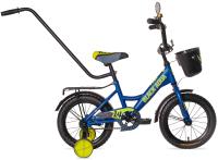 Детский велосипед Black Aqua Aqua Fishka 12 KG1227 со светящимися колесами (синий) -