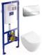 Унитаз подвесной с инсталляцией Villeroy & Boch Subway 2.0 6604-10-01 + 92249061 + 92246100 + 9M66S101 -