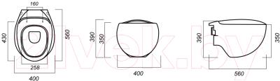 Унитаз подвесной с инсталляцией Sanita Luxe Ringo RNGSLWH0104 + 38721001