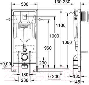 Унитаз подвесной с инсталляцией Sanita Luxe Ringo RNGSLWH0104 + 38775001