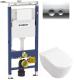 Унитаз подвесной с инсталляцией Villeroy & Boch Subway 6600-10-01 + 9M55 S101 + 458.122.21.1 -
