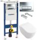 Унитаз подвесной с инсталляцией Villeroy & Boch Subway 6600-10-01 + 9M55 S101 + 458.125.21.1 -