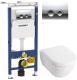 Унитаз подвесной с инсталляцией Villeroy & Boch Subway 2.0 5600-10-01 + 9M68 S101 + 458.122.21.1 -