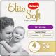Подгузники-трусики детские Huggies Elite Soft Platinum 4 (36шт) -