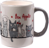 Кружка Elrington Bon Appetit Cat 110-07100 / 93593 -