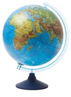 Глобус Глобусный мир Физико-политический с подсветкой на круглой подставке / 13200264 (32см) -