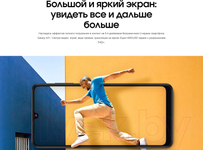 Смартфон Samsung Galaxy A31 128GB / SM-A315FZKVSER (черный)