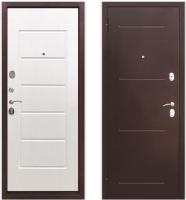 Входная дверь Юркас Гарда 7.5 антик/белый ясень (86x205, левая) -