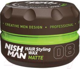 Воск для укладки волос NishMan 08 Matte Look (100мл)