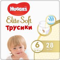 Подгузники-трусики детские Huggies Elite Soft 6 Mega (28шт) -