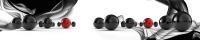 Скиналь Оптион Абстракция. Черные и красные шары 50 (стекло, 2800x600x3) -