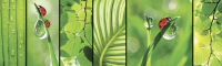 Скиналь Оптион Миражи. Зеленый мир 3 (стекло, 1400x600x3) -