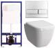 Унитаз подвесной с инсталляцией VitrA Shift Rim-Ex / 040213 + 7742B003-0075 (с сиденьем микролифт) -