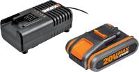 Набор аккумуляторов для электроинструмента Worx WA3551.1 + зарядное устройство WA3880 / WA3601 -