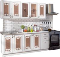 Готовая кухня Rikko Визаж 2.0 (белый/белый матовый) -