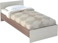 Односпальная кровать Rikko Бася КР554 80х200 (шимо темный/шимо светлый) -