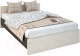 Полуторная кровать Rikko Бася КР557 140х200 (венге/белфорд) -