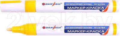 Маркер строительный Darvish DV-2754 (желтый)