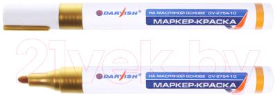 Маркер строительный Darvish DV-2754-10 (золото)