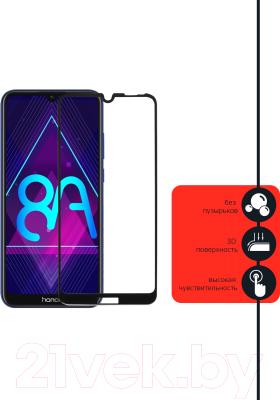 Защитное стекло для телефона Volare Rosso 3D для Huawei Y6 2019/Y6s/Honor 8A/8A Pro (черный)