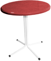 Стол садовый Термопласт ЖРВИ д700 196с (красный) -