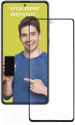 Защитное стекло для телефона Volare Rosso 3D для Galaxy Note 10 Lite/А71 (черный)
