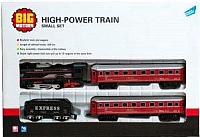 Железная дорога игрушечная Big Motors 19033-4 с 3 вагонами -