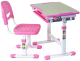 Парта+стул FunDesk Piccolino (розовый) -