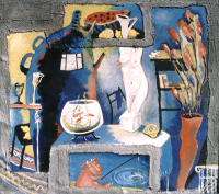 Авторская картина ХO-Gallery Натюрморт с аквариумом / ИТ–2020–003 -