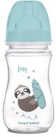 Бутылочка для кормления Canpol Exotic animals с широким горлышком 3-6+ / 35/221 (240мл, голубой) -