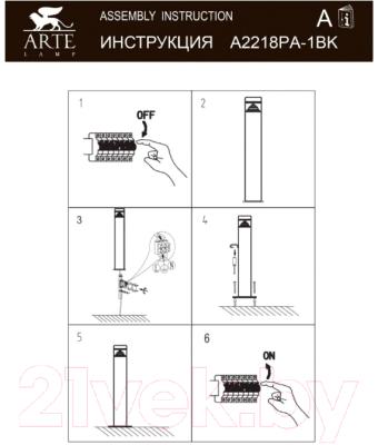 Светильник уличный Arte Lamp Shalby A2218PA-1BK