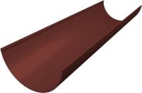 Желоб водостока Grand Line Стандарт ПВХ (3м, шоколадный) -