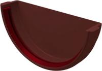 Заглушка желоба Grand Line Стандарт ПВХ (шоколадный) -