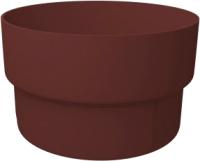 Муфта для водостока Grand Line Стандарт ПВХ (шоколадный) -
