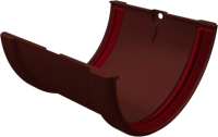 Соединитель желобов Grand Line Стандарт ПВХ (шоколадный) -