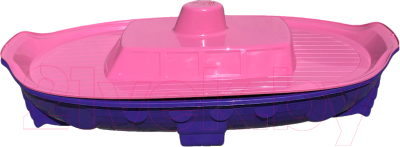 Песочница-бассейн Doloni Корабль 03355/1 (фиолетовый/розовый)