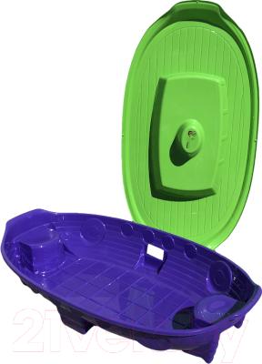 Песочница-бассейн Doloni Корабль 03355/2 (фиолетовый/салатовый)