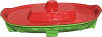 Песочница-бассейн Doloni Корабль 03355/3 (салатовый/красный) -