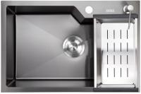 Мойка кухонная Avina HM6543 PVD (графит) -