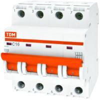 Выключатель автоматический TDM ВА 47-29 4Р 3А (С) 4.5кА / SQ0206-0118 -