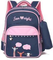 Школьный рюкзак Sun Eight SE-2711 (темно-синий/розовый) -