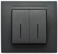 Выключатель Gunsan Moderna 01 29 34 00 150 104 (черный) -